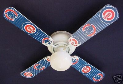 Chicago Cubs Baseball Ceiling Fan 42""