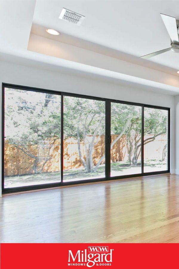 Indoor Outdoor Living Is Reflected In This Expansive Aluminum Sliding Patio Door Featuring A Sliding Glass Doors Patio Glass Doors Patio Sliding Doors Exterior