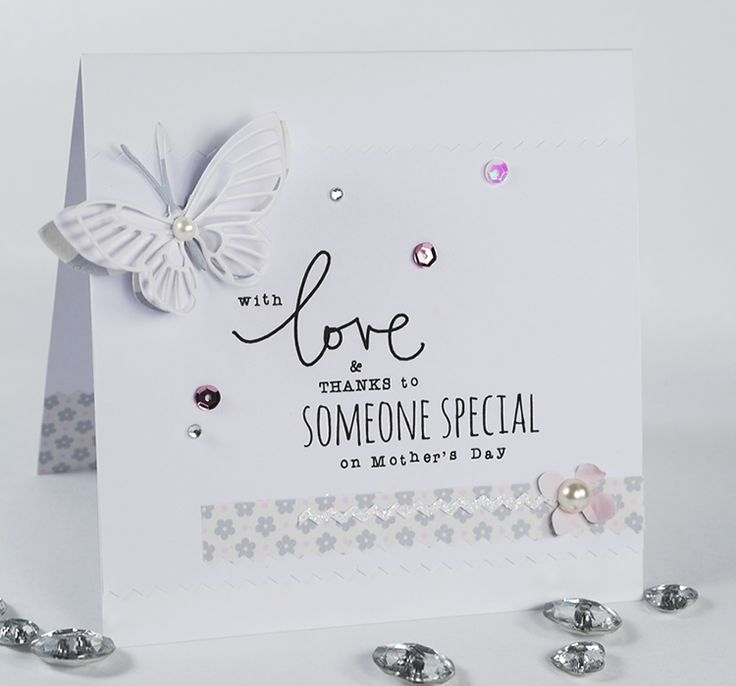 'Just For Mum' Sentiments and a pretty paper from the 'Marshmallow' Printable Paper Pack.