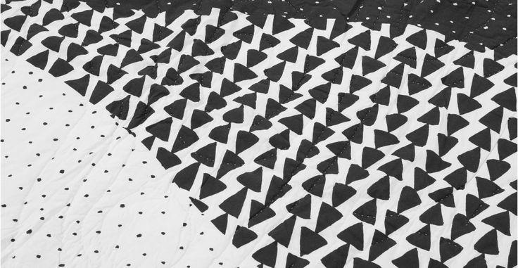 Iso sprei 180 x 130cm, zwart-wit | made.com