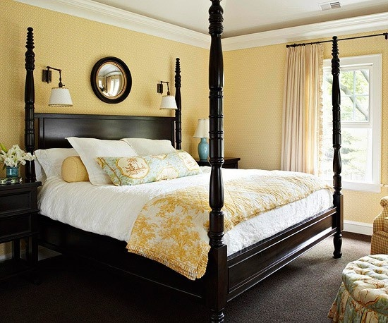 yellow bedroom: Guest Room, Yellow Wall, Masterbedroom, Wall Color, Guest Bedroom, Master Bedroom