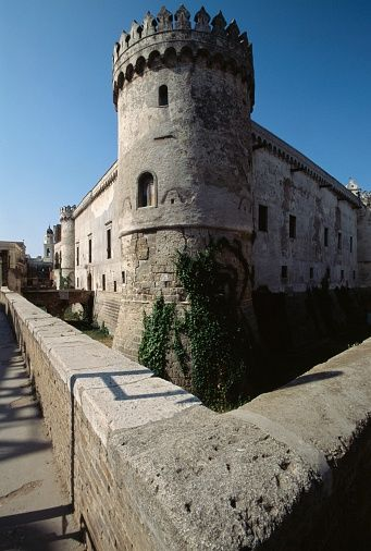 Round tower of Ducal castle, Torremaggiore, Apulia, Italy