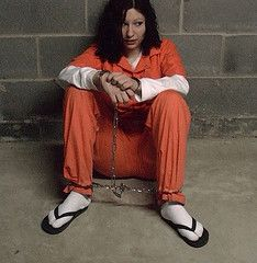womenu0027s orange prison jumpsuit | ... Tags orange woman female chains uniform prison  sc 1 st  Pinterest & 83 best Restraints images on Pinterest | Prison Big sisters and ...