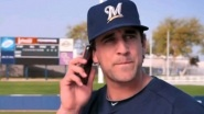 MILWAUKEE — He's back! Green Bay Packers quarterback Aaron Rodgers is featured in a third new Milwaukee Brewers commercial with...