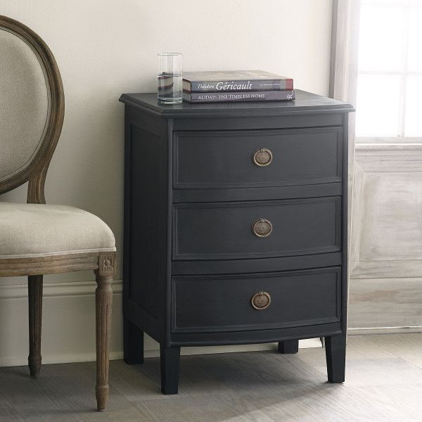 Three Drawer Pee Chest Ebony Love Side Table 22 Inches Wide So Cutting It Close For Bedroom 2