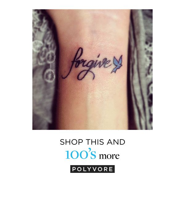 Freedom in forgiveness tattoo tattos found on Polyvore featuring accessories, body art, tattoos and tatoos