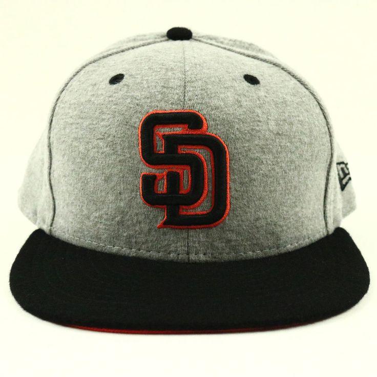 San Diego Padres Unisex New Era Cap Gray Black Baseball Hat MLB Size 7 5/8 Fit #NewEra #SanDiegoPadres