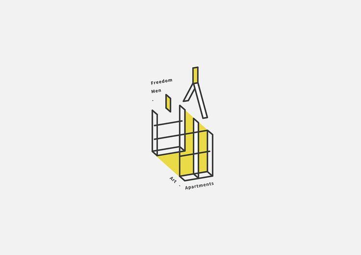 自由人藝術公寓 Logotype on Behance