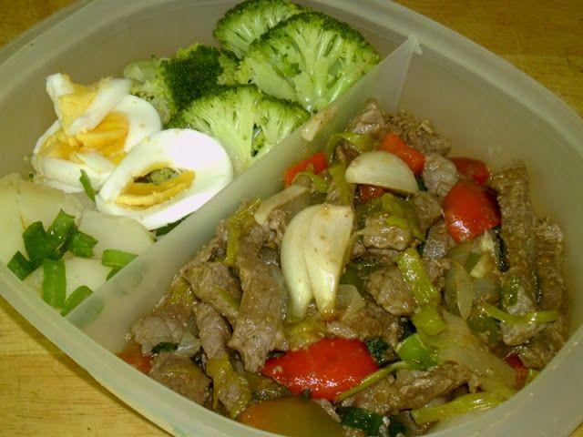 Mi cocina: Carne salteada con pimientos y cebollas