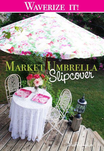 Mod Vintage Life: Waverize It! - slipcover for a outdoor umbrella #waverize