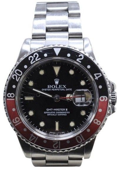 Rolex GMT Master II 16760 Stainless Steel Coke Bezel Automatic 40mm Mens Watch