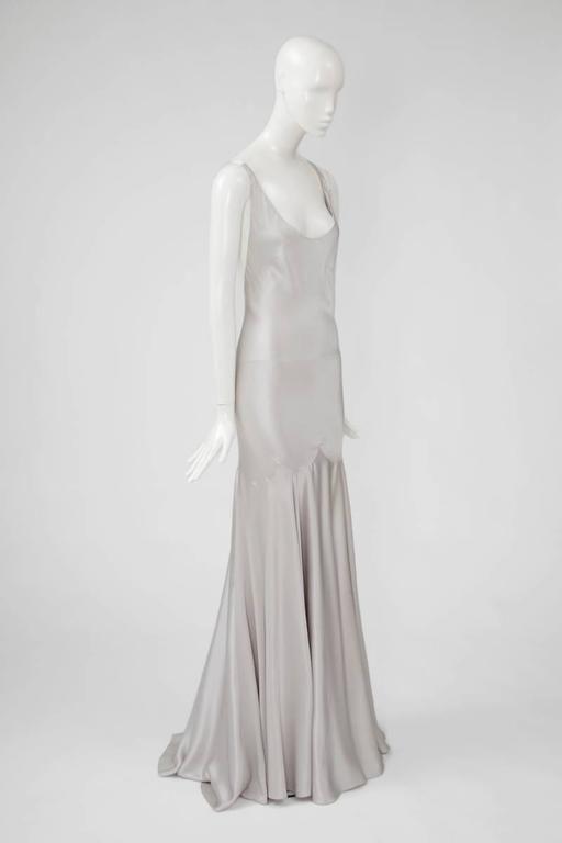 Alexander McQueen Silk Charmeuse Gown, Circa 2005