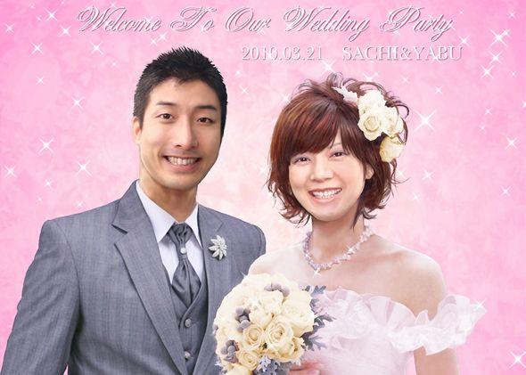 ウェルカムボード 似顔絵 http://wedding.mypic.jp/data/388