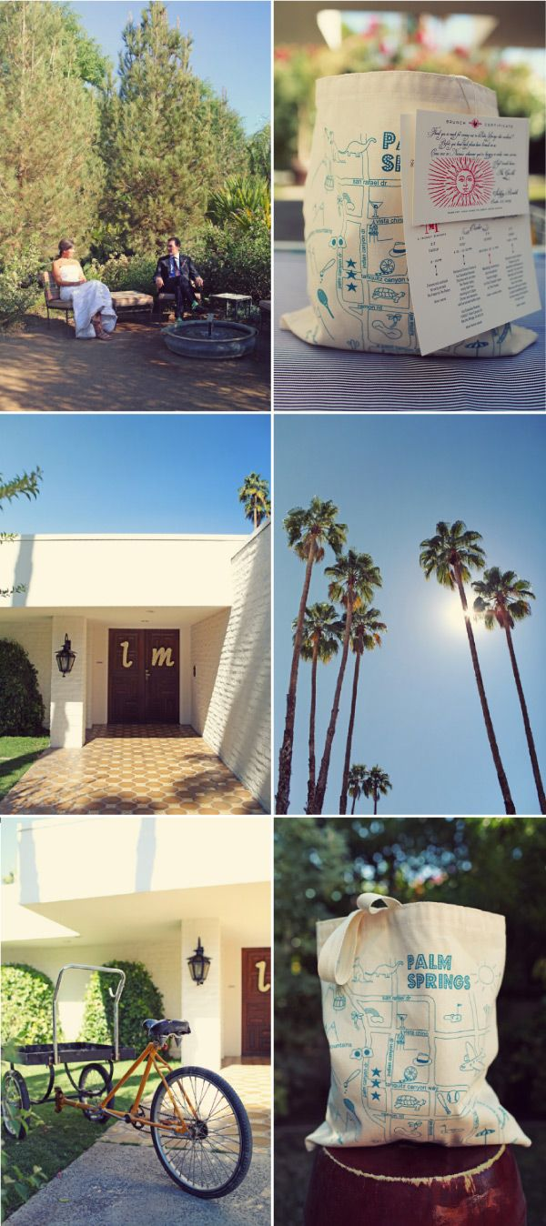 An agenda for our weekend wedding at the Parker Palm Springs!