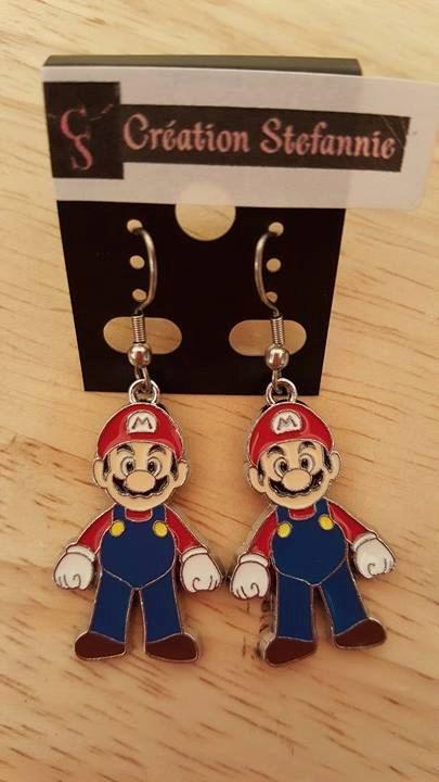 Necklace/Earring Mario Bros nintendo Collier/Boucles