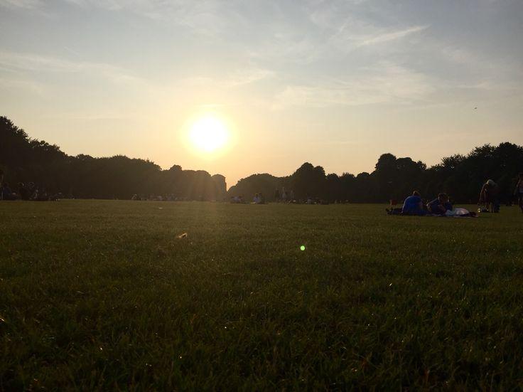Sommerabende im Stadtpark in Hamburg.
