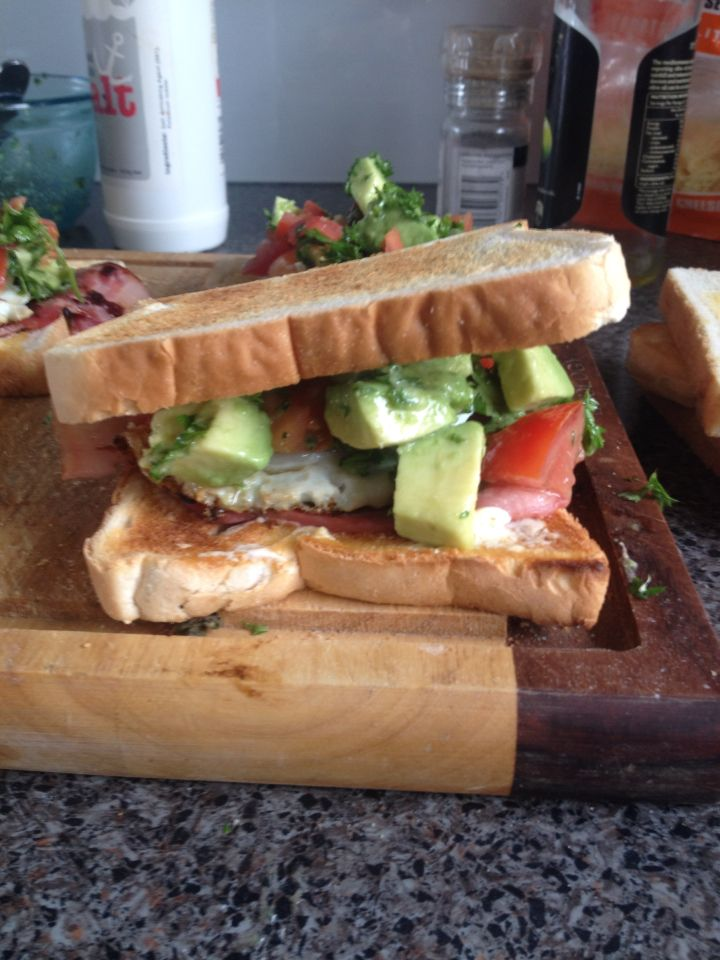Quick lunch, nothing more filling than a BLT