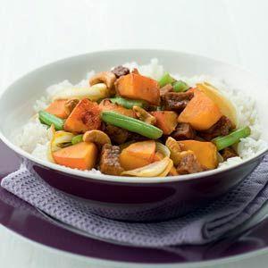 Recept - Pompoen met tofu en cashewnoten - Allerhande