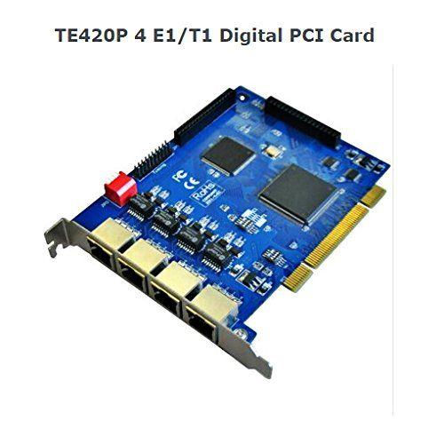 Generic Te420p Quad Span Digital E1/t1 PCI Card for Asterisk Ip Pbx, Call Centre | Top Office Shop