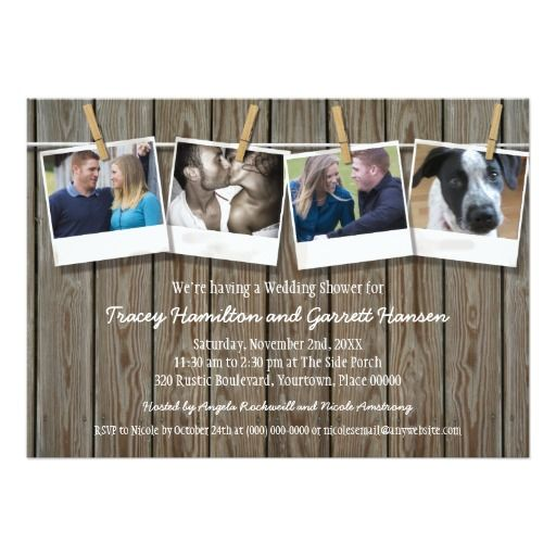 Review Rustic Clothesline Photo  Wedding Shower 5x7 Paper Invitation Card We have the best promotion for you and if you are interested in the related item or need more information reviews from the x customer who are own of them before please follow the link to see fully reviews