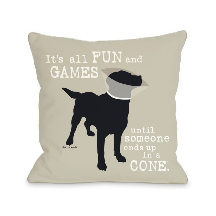 Oatmeal Fun and Games Dog Throw Pillow | Overstock™ Shopping - Great Deals on Throw Pillows
