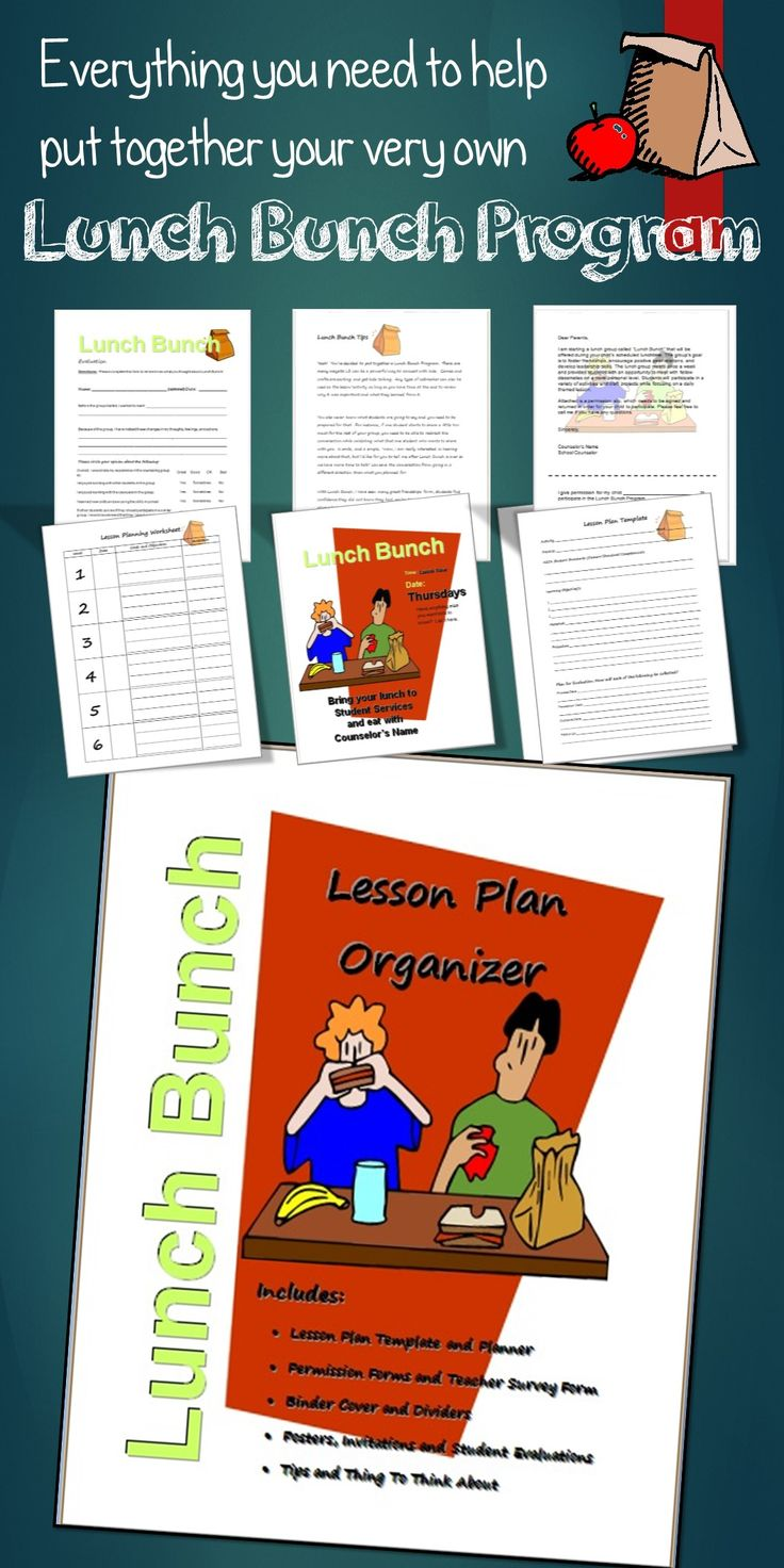 All the forms and resources you need to plan, organize and promote your lunch bunch or small group counseling program.