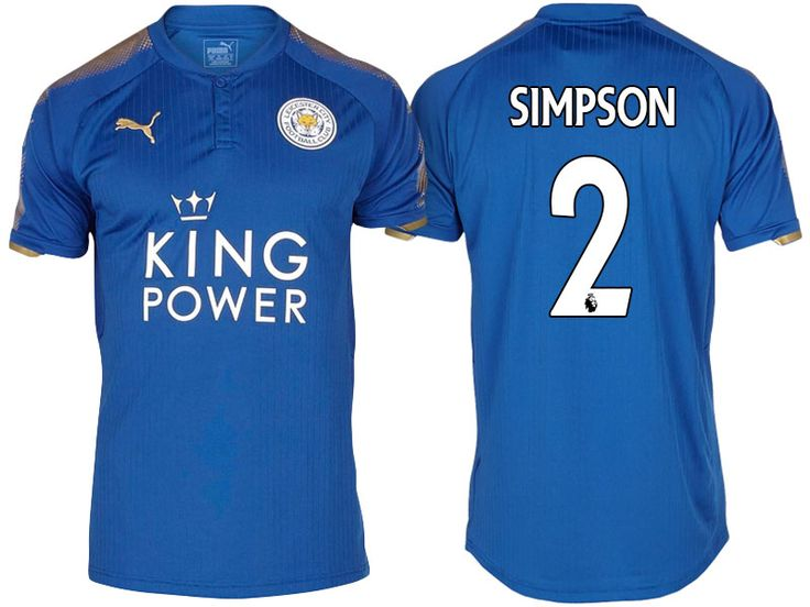 Leicester City Jersey danny simpson Home 17-18 Shirt