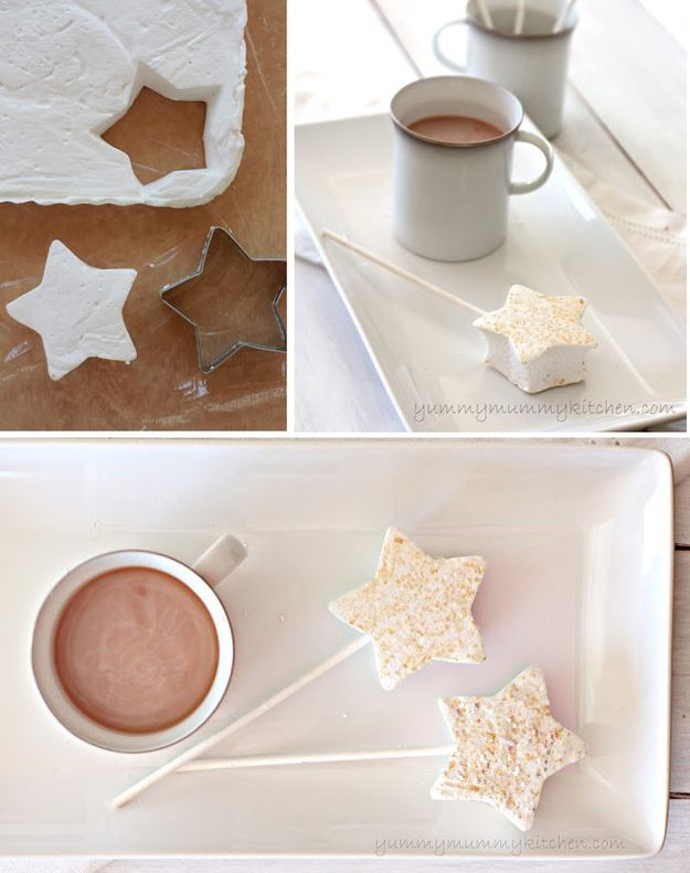Use glittery marshmallow stars if you're serving hot chocolate.