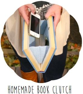 The Surznick Common Room: Homemade Book Clutch - great gift for a bibliophile