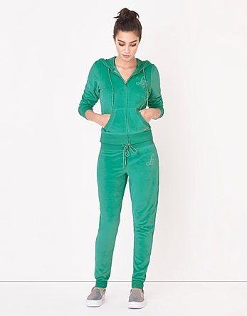 Womens sea green logo cuff jogger from Lipsy - £38 at ClothingByColour.com