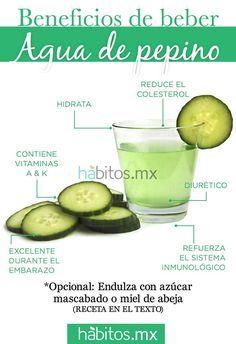 Agua de pepino. #hábitosmx #health #salud
