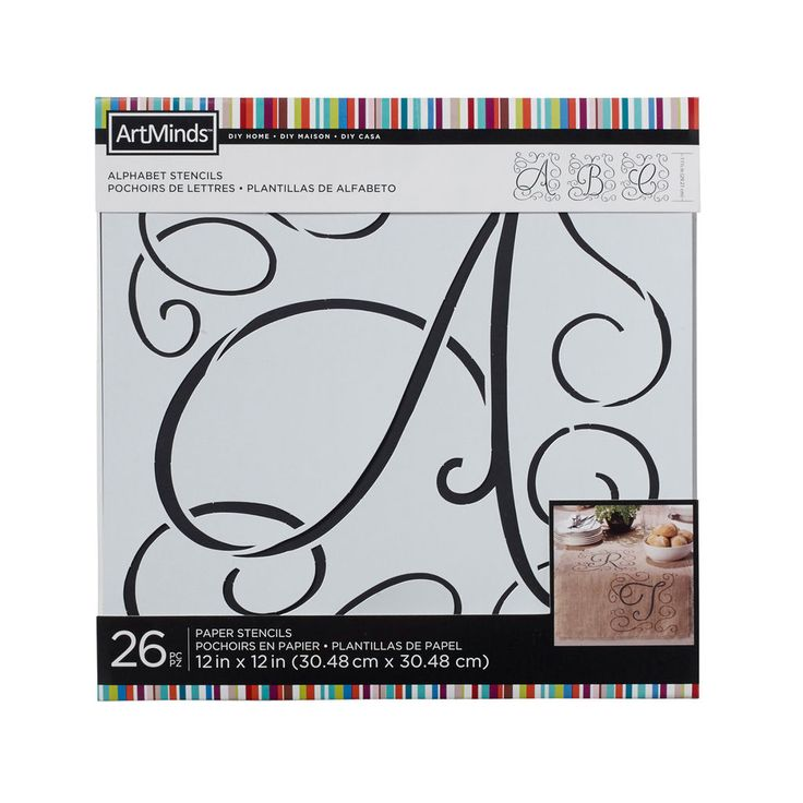 Perfect for home décor projects on a variety of household surfaces, these large letter stencils feature an elegant flourish design that can be used with ArtMinds Décor or Chalk paints to create your own personalized décor accents.