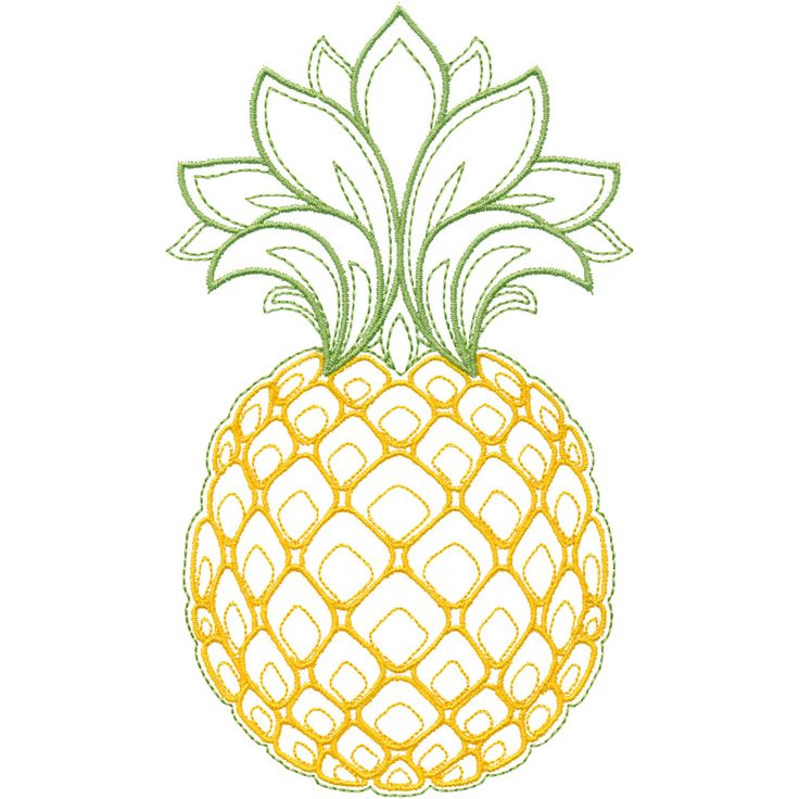 Linework Pineapple embroidery design