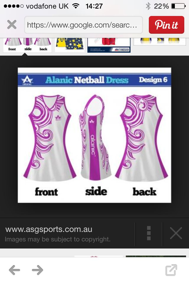 Just found these pretty netball dresses! I love these! This is my first pin so hope you like it!! As you can see the web address on the picture! If you like go check it out !! Xx