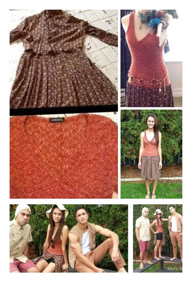 One vintage dresses journey from start to finished ... Follow us at #ecovintagechallenge