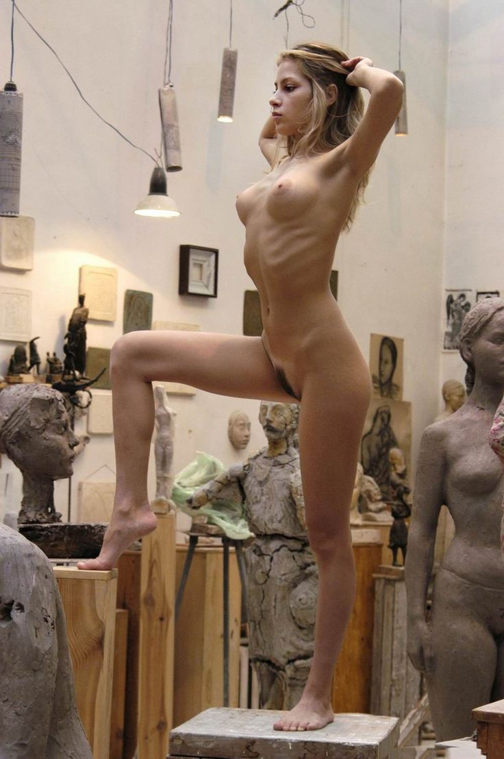 Nude female life model-8866