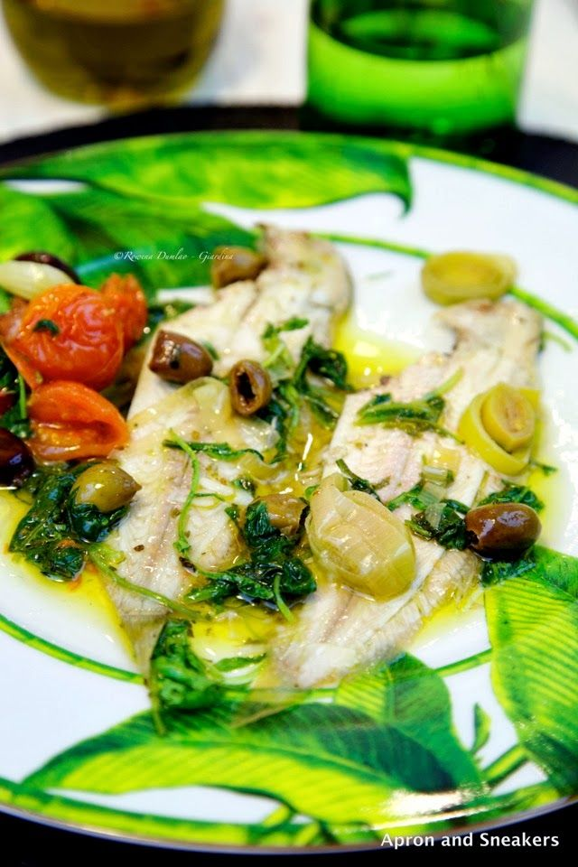 ... Traveling in Italy and Beyond: White Wine Sole With Arugula and Leeks