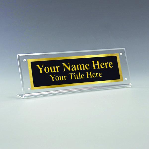 Acrylic Name Plate Holder Desk