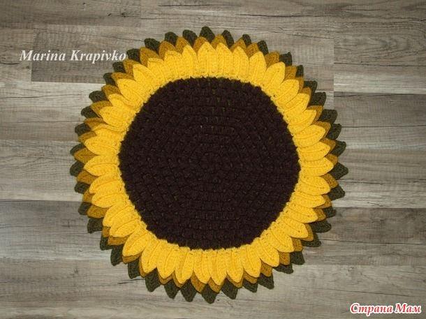 """Совместное вязание под лозунгом """"Подсолнух - цветок солнца"""""""