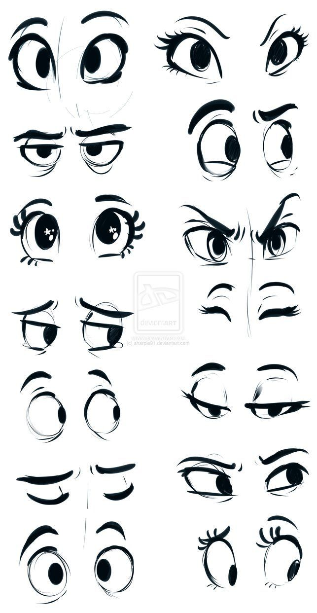 doodle-in-a-can:   Eyes by sharpie91 on deviantART - Art References