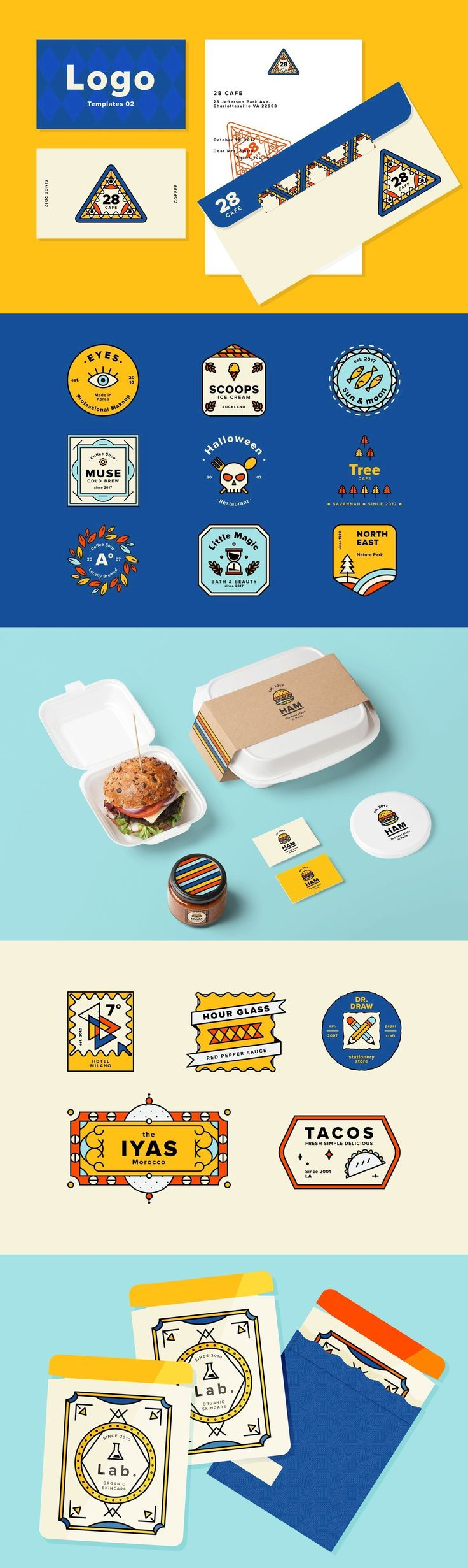 Logo Templates 02 - Logo design is serious business, and not just in terms of establishing a solid visual i...