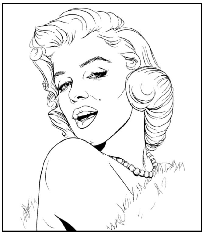 coloring pages marilyn căutare marilyn
