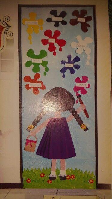 M s de 25 ideas fant sticas sobre puertas decoradas en for Puerta en ingles