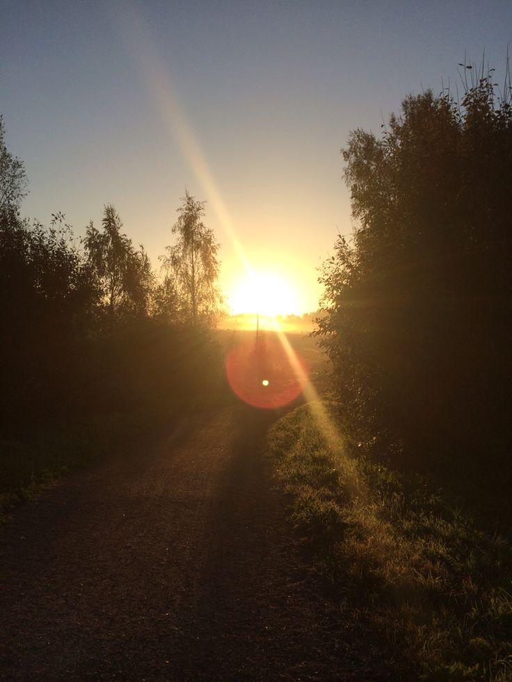 Sunrice In Porvoo, Finland