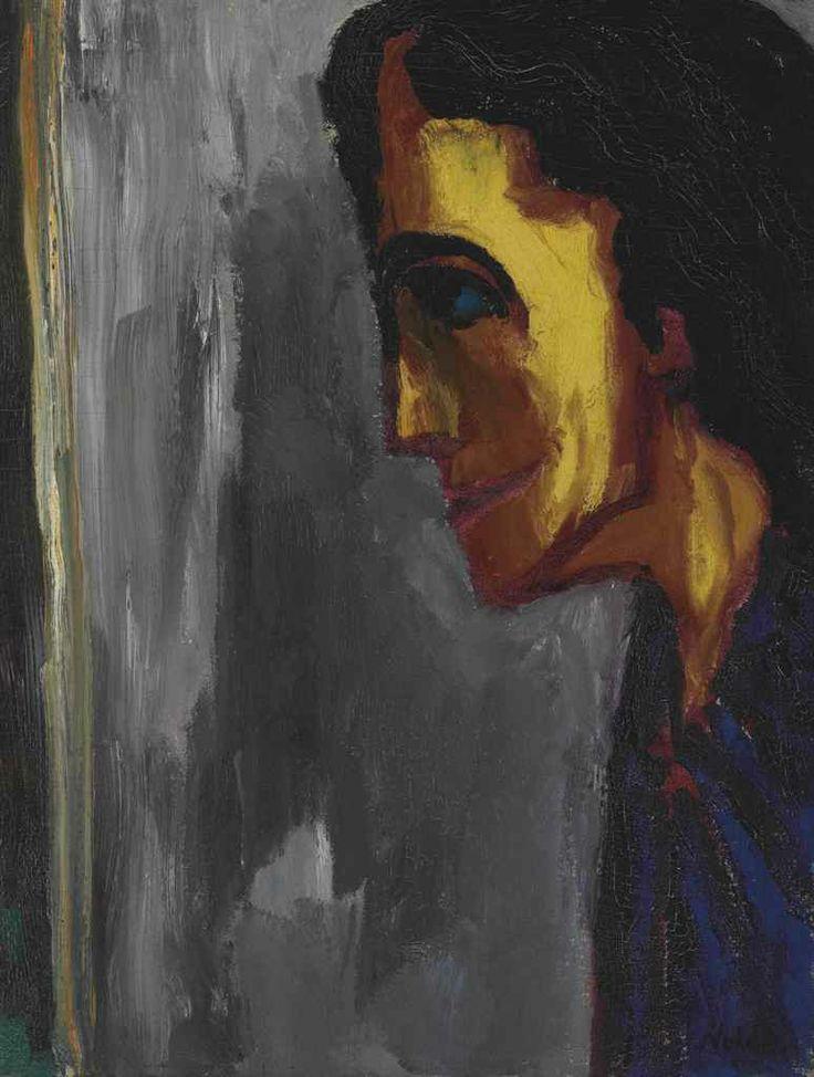 Emil Nolde (1867-1956) Frauenprofil