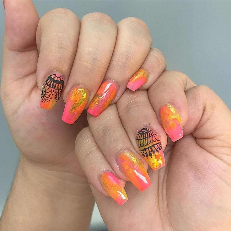 1000+ Ideas About Fall Acrylic Nails On Pinterest