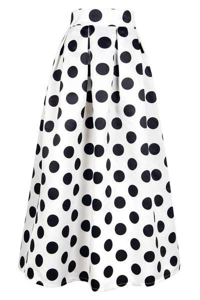 High Waist Dot Print maxi Skirt – The Plaza & Co