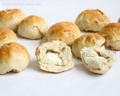 homemade Bantam bagel bites stuffed with cream cheese -- video how-tos