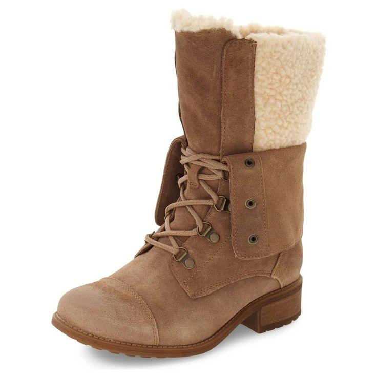 FSJ Doris Brown Mid Calf Boots