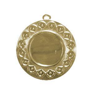 Medallas especiales en zamac, con logo personalizado a full color en frontal, placa de marca en posterior y cinta para colgar